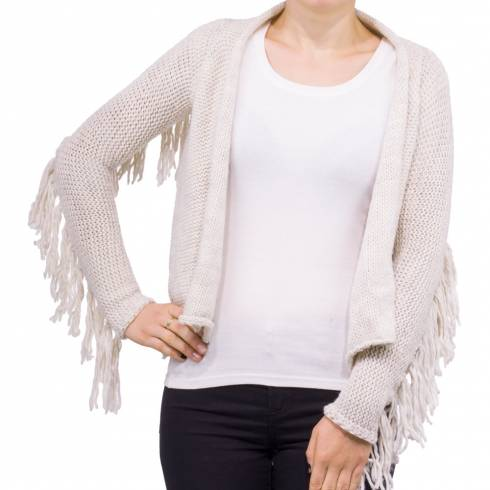Cardigan TALLY WEIJL, crem crosetat