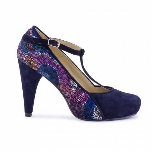 Pantofi dama, Diane Marie, cu bareta, bleumarin
