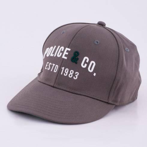 Sapca Police, gri cu scris alb