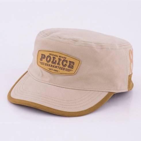 Sapca Police, cappuccino-maro