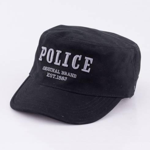 Sapca Police, neagra cu scris argintiu