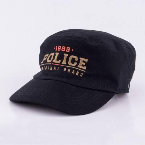 Sapca Police, negru cu scris auriu