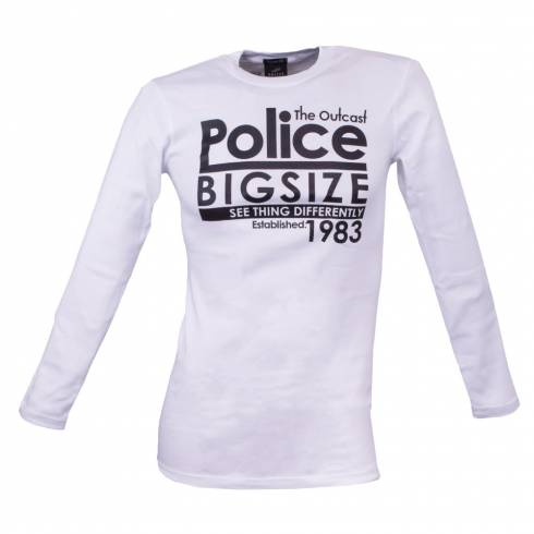 Bluza barbati, Police, alb, cu text: See thing differently