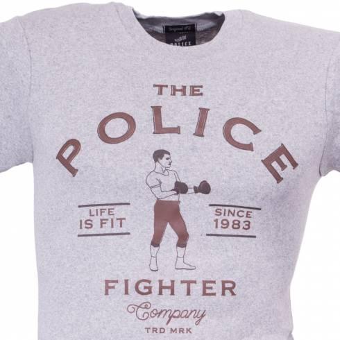 Tricou POLICE FIGHTER gri