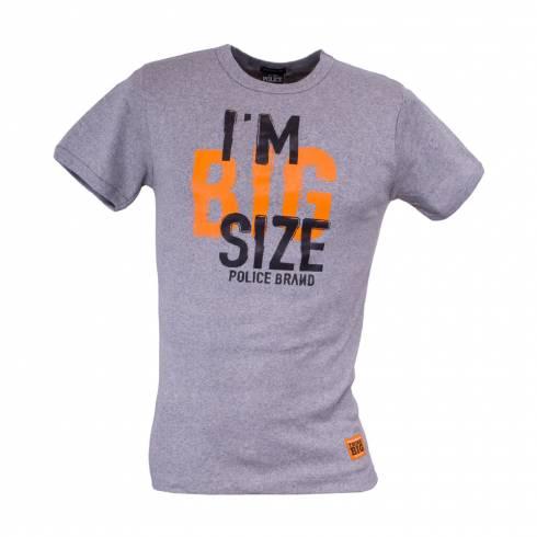"""Tricou """"POLICE I'M A BIG SIZE"""" gri"""