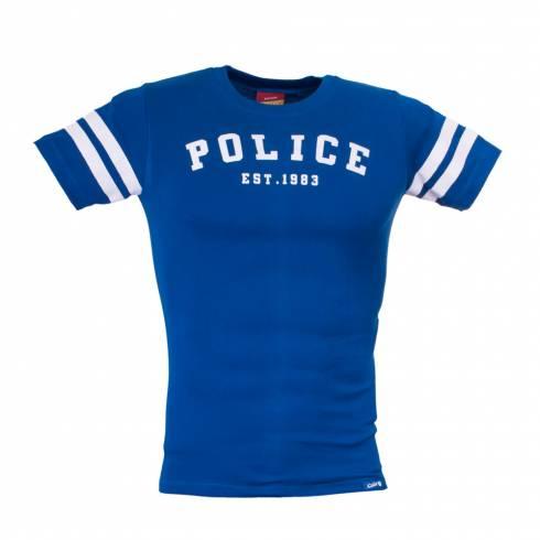 Tricou albastru POLICE albastru cu dungi