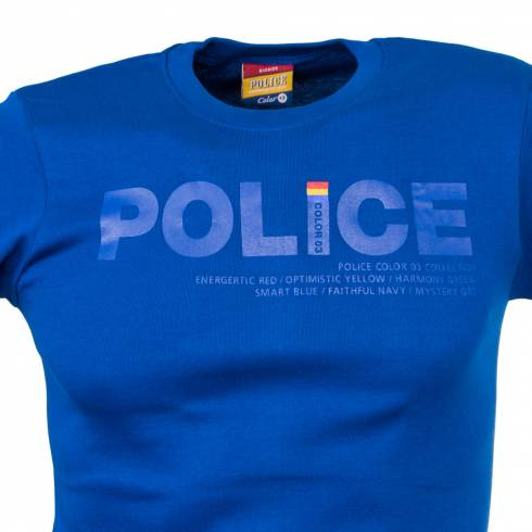 Tricou POLICE albastru