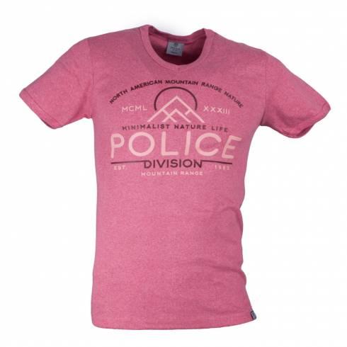 Tricou POLICE caramiziu
