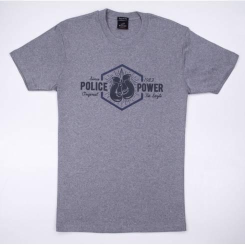 Tricou POLICE gri