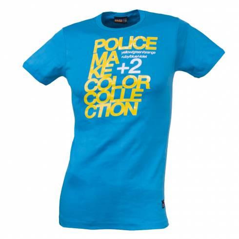 Tricou POLICE turcoaz