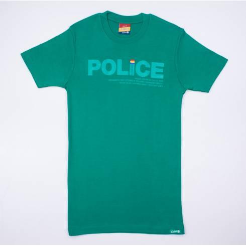 Tricou POLICE verde