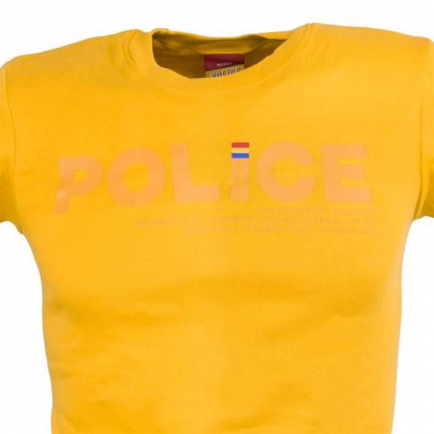 Tricou POLICE galben
