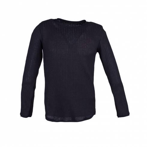 Bluza barbati, negra,  tricotata