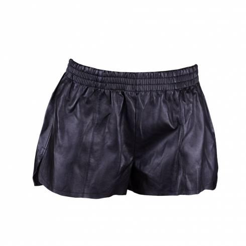 Pantaloni scurti dama, Tally Weijl, din piele neagra cu elastic