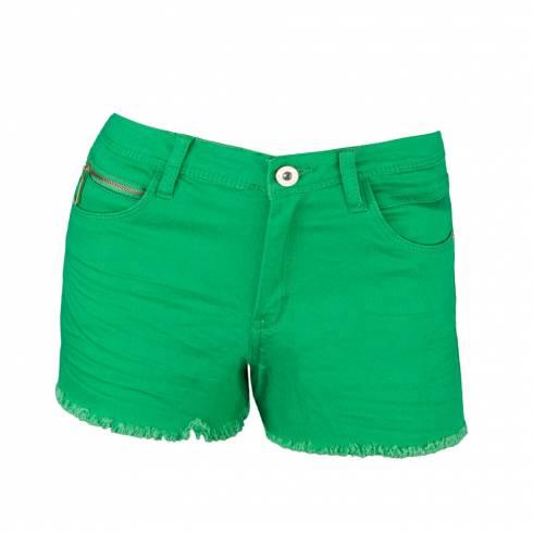Pantaloni dama, scurti, verde