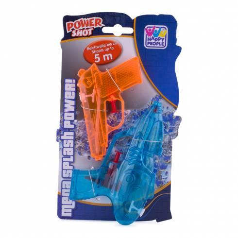 Set 2 pistoale cu apa, Happy People. albastru deschis si portocaliu