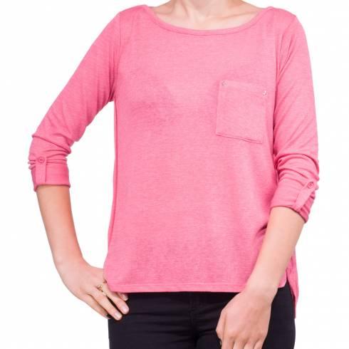 Bluza dama roz, cu buzunar