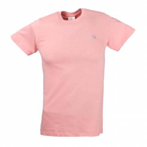 Tricou barbati roz piersica cu anchior