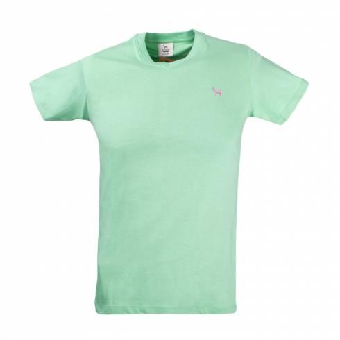 Tricou barbati verde deschis cu anchior
