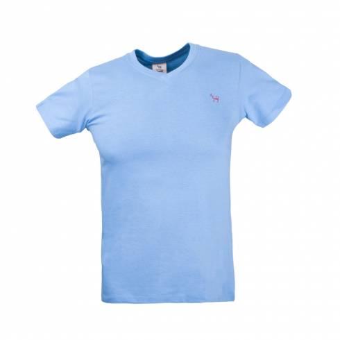 Tricou barbati albastru deschis cu anchior