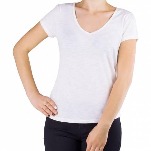 Tricou dama alb cu anchior