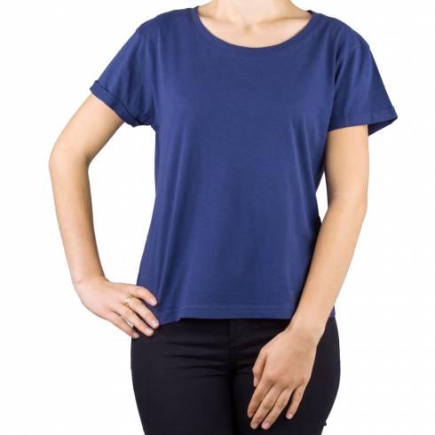 Tricou bleumarin cu anchior in spate