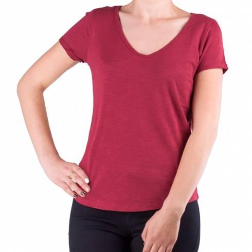 Tricou dama rosu cu anchior