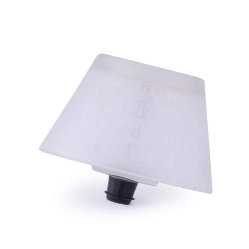 Dop de sticla, alb, in forma de suport candela
