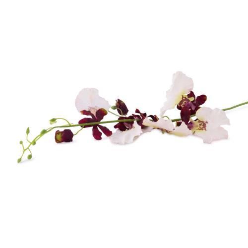 Fir orhidee, artificiala, alb-visiniu