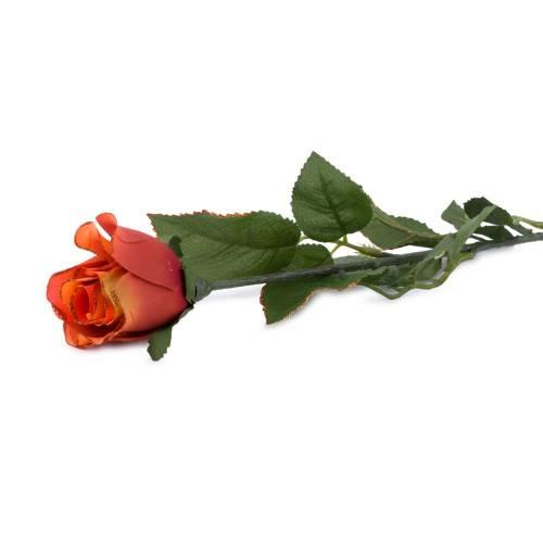 Fir trandafir, artificial, portocaliu cu sclipici