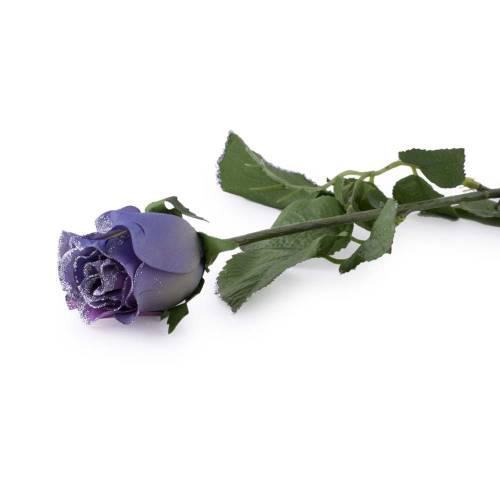 Fir trandafir, artificial, mov cu sclipici