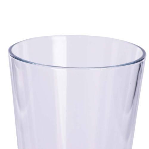 Pahar de sticla, conic, transparent 13 cm