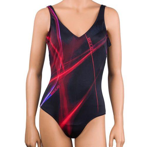 Costum de baie intreg, Beco, rosu-negru
